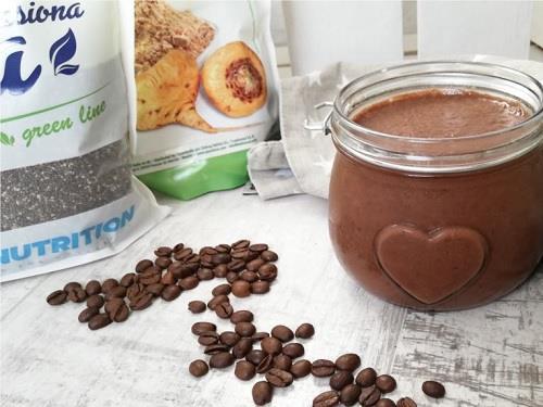Czekoladowo-kawowy deser z maca i chia