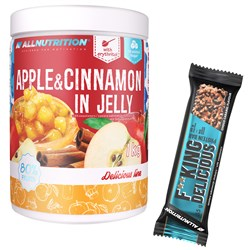 Apple & Cinnamon In Jelly 1000g + Fitking Delicious Protein Bar 55g GRATIS