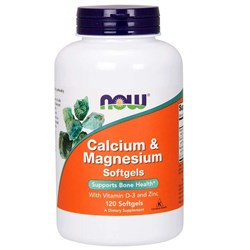 Calcium & Magnesium with Vitamin D and Zinc - 120softgels
