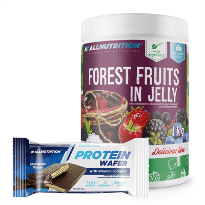 ALLNUTRITION Forest Fruits In Jelly 1000g + Protein Wafer 35g GRATIS