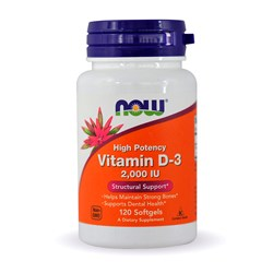 High Potency Vitamin D-3 - 120softgels(2000IU)