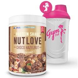 NUTLOVE Protein Shake Chocolate Hazelnut 630g + Shaker FitWomen