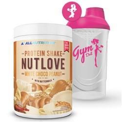 NUTLOVE Protein Shake White Choco Peanut 630g + Shaker FitWomen