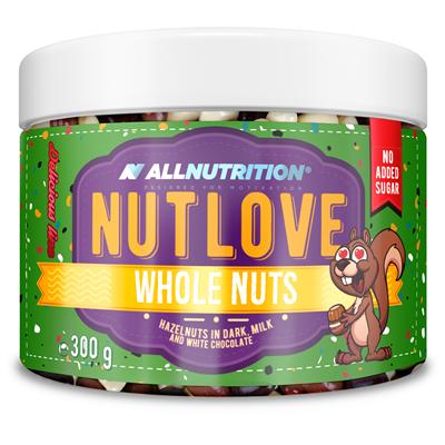 ALLNUTRITION NUTLOVE WHOLENUTS - Orzechy Laskowe W Ciemnej, Mlecznej I Białej Czekoladzie