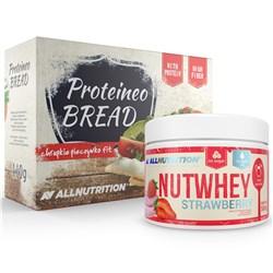 Nutwhey Strawberry 500g + Proteineo Bread 110g GRATIS