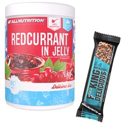 Redcurrant in Jelly 1000g + Fitking Delicious Protein Bar 55g GRATIS