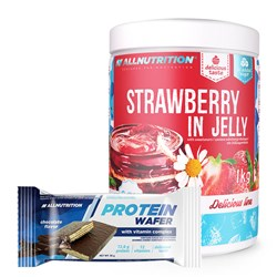 Strawberry In Jelly + Protein Wafer - 1000g+35g