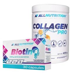 Zestaw BEAUTY Collagen Pro 400g + Biotin 30caps GRATIS
