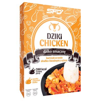 SFD NUTRITION Dziki Chicken - Kurczak w sosie słodko-kwaśnym z ryżem